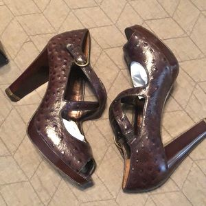 Banana Republic Ostrich Leather Heels